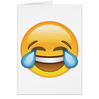 Laughing Crying Tears of Joy emoji Card