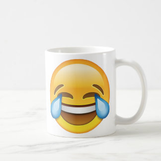 Laughing Crying Tears of Joy emoji Coffee Mug