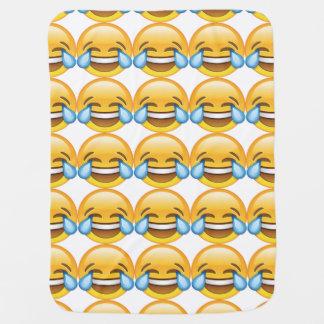 Laughing Crying Tears of Joy emoji Swaddle Blankets