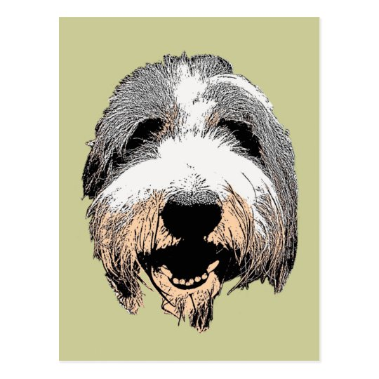 Laughing Dog Pop Art Postcard