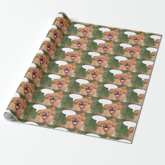 Laughing dog wrapping paper