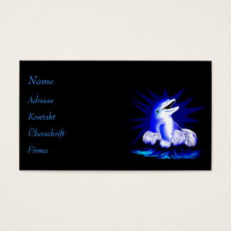 Laughing dolphin business card