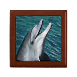 Laughing Dolphin Small Square Gift Box