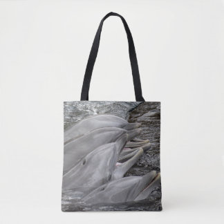 Laughing Dolphins Tote Bag