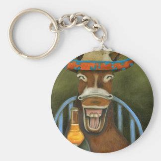 Laughing Donkey Key Ring