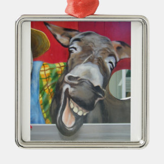 LAUGHING DONKEY ORNAMENT