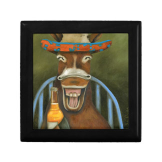 Laughing Donkey Small Square Gift Box