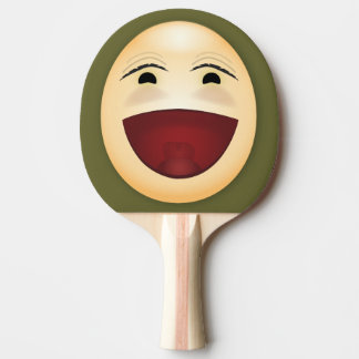 Laughing Face - Ping Pong Paddle