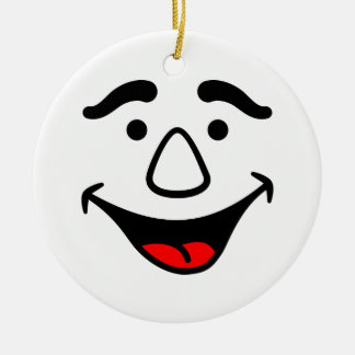 Laughing Face Round Ceramic Decoration