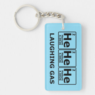 Laughing Gas Single-Sided Rectangular Acrylic Key Ring