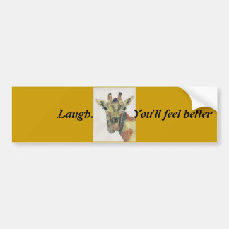 Laughing Giraffe Bumper Sticker