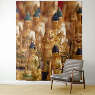 Laughing Golden Buddha Tapestry