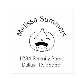 Laughing Halloween Pumpkin Address Self-inking Stamp