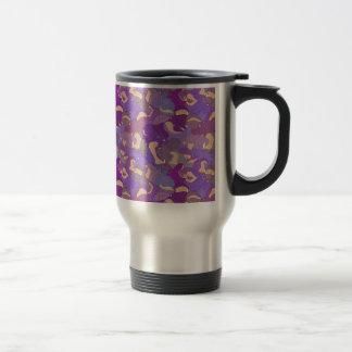 Laughing Hippos - purple Travel Mug