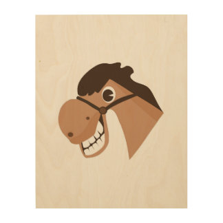 Laughing Horse Wood Wall Decor