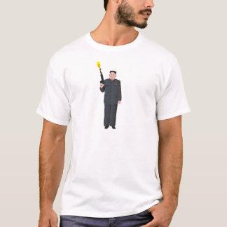 Laughing Kim Jong-un firing a gun into the air T-Shirt