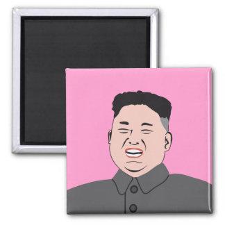 Laughing Kim Jong-un Square Magnet