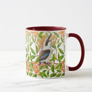 Laughing Kookaburra in Gum Tree Mug