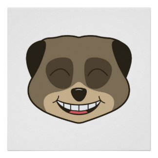 Laughing meerkat expression poster