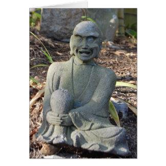 Laughing Monk Greeting Card