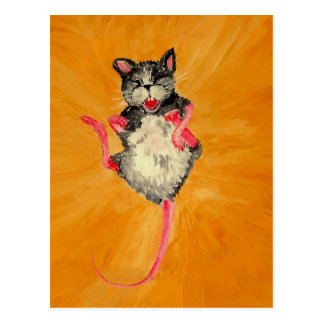 Laughing Mouse Postcard