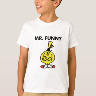 Laughing Mr. Funny With Flower T-Shirt