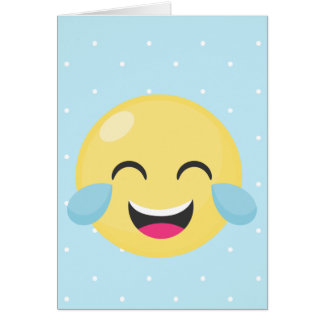 Laughing Out Loud Emoji Dots Card