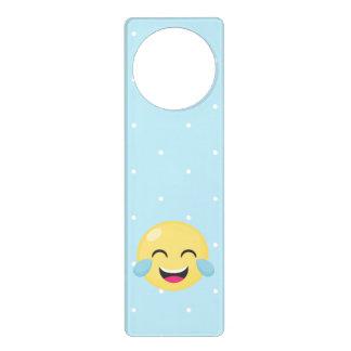 Laughing Out Loud Emoji Dots Door Hanger