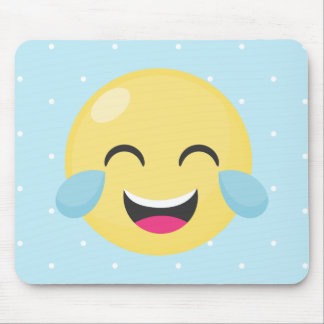 Laughing Out Loud Emoji Dots Mouse Pad
