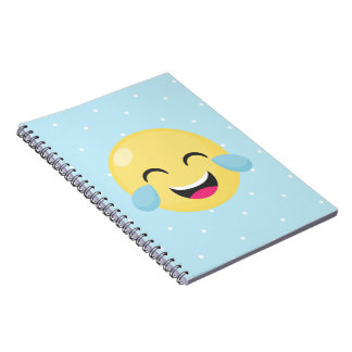 Laughing Out Loud Emoji Dots Notebooks