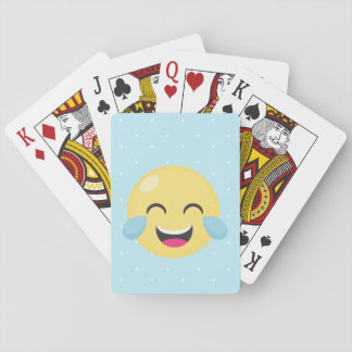 Laughing Out Loud Emoji Dots Playing Cards