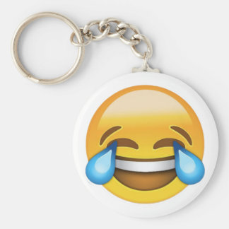 Laughing Out Loud Emoji Keychain