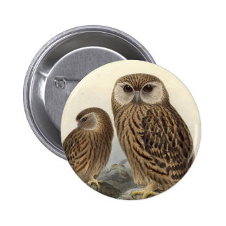 Laughing Owl Vintage Illustration 6 Cm Round Badge