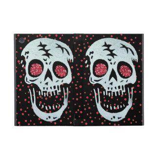 Laughing Red Glitter Eye Skull iPad Mini Cases