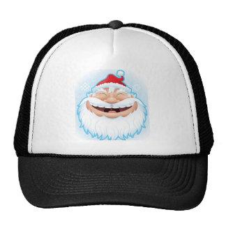 LAUGHING SANTA TRUCKER HAT