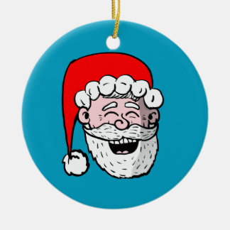 Laughing Santa Head ornament