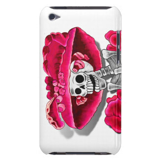Laughing Skeleton Woman in Red Bonnet Barely There iPod Case
