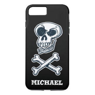 laughing skull and bones cartoon style iPhone 8 plus/7 plus case