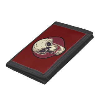 laughing skull comic style wallet