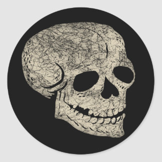 Laughing Skull Round Stickers