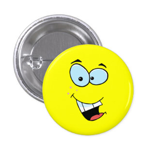 Laughing Smiley Face 3 Cm Round Badge
