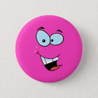Laughing Smiley Face 6 Cm Round Badge