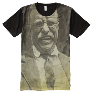 Laughing Theodore Roosevelt All-Over Print T-Shirt