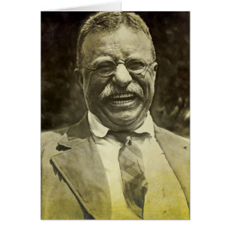 Laughing Theodore Roosevelt Card