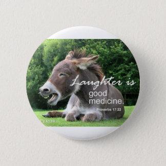 Laughter 6 Cm Round Badge