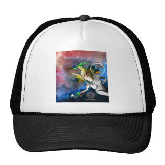 Laughter in space mesh hats
