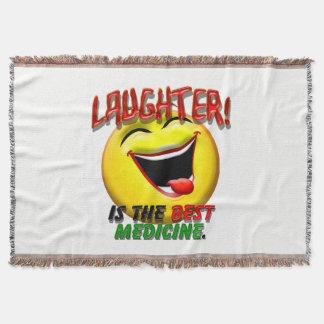 Laughter is the Best Medicine Throw Blanket