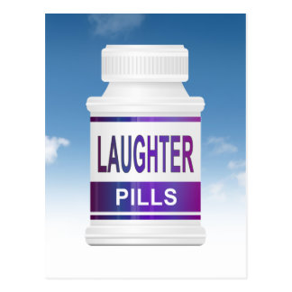 Laughter pills. postcard