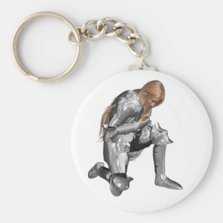 Launcelot du Lac Basic Round Button Key Ring
