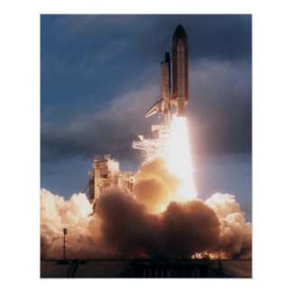 Launch of Space Shuttle Atlantis STS-74 Print